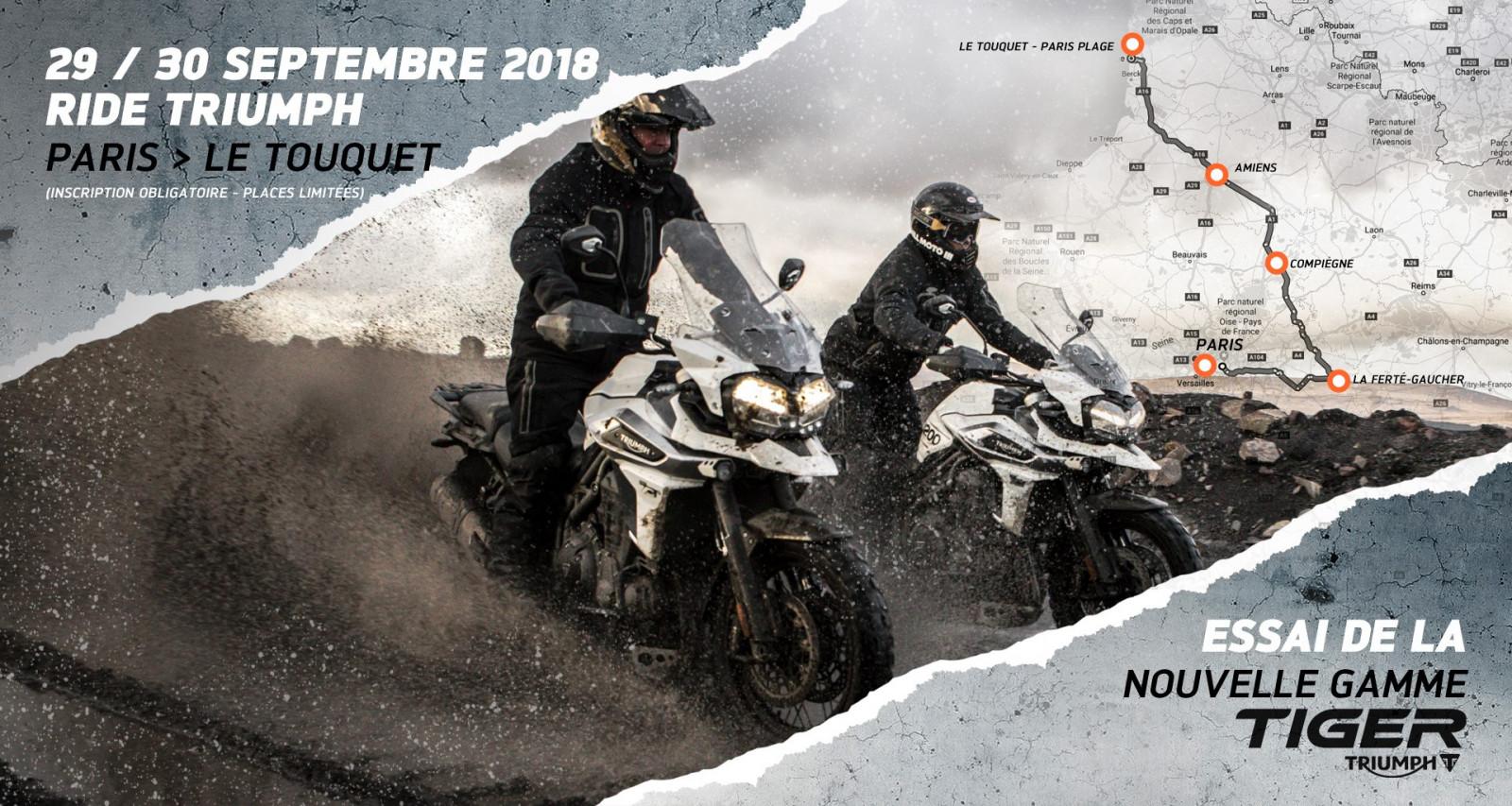 Triumph Tiger Expérience : PARIS > LE TOUQUET